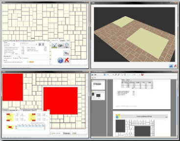 Autodalle paving planner, creating random paving layouts for paving slabs and flagstones
